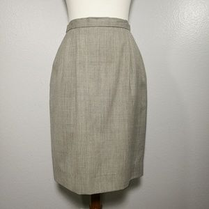 LANDS' END Wool Silver Gray Pencil Skirt Size 8